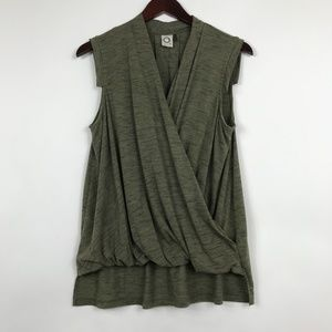 Anthropologie Akemi + Kin Medium Green Blouse Wrap